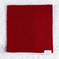 Manta Tricot Ponto Arroz Vermelho 80cm