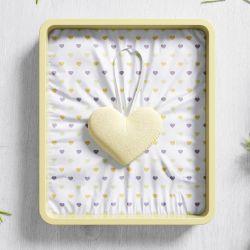 Lembrancinha Maternidade Mon Petit Coração Amarelo