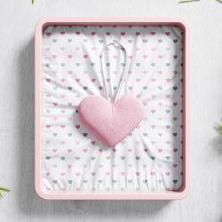 Lembrancinha Maternidade Mon Petit Coração Rosa
