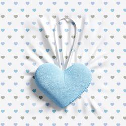 Lembrancinha Maternidade Mon Petit Coração Azul