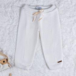 Calça Tricot Faixa Lateral Branco