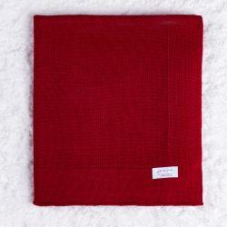 Manta Tricot Liso Vermelho 80cm
