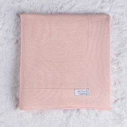 Manta Tricot Liso Rosa 80cm