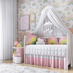 Quarto de Bebê Amiguinhas Arco-Íris