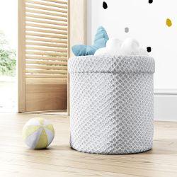 Cesto Organizador para Brinquedos Tricot Colmeia Branco
