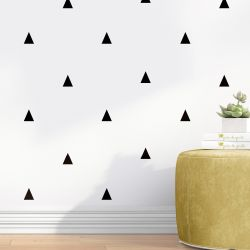 Papel de Parede Geométrico Triângulo Escandinavo Preto e Branco