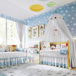 Quarto de Bebê Amiguinhos Toy Story Garfinho, Woody, Buzz e Jessie