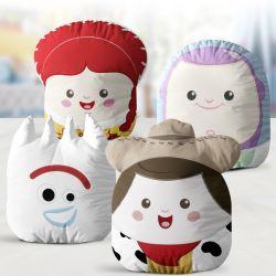 Almofadas Amiguinhos Toy Story Garfinho, Woody, Buzz Lightyear e Jessie