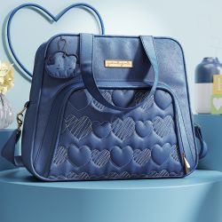 Bolsa Maternidade Chuva de Amor Azul Marinho 34cm