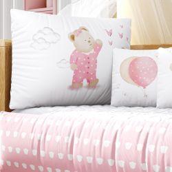 Kit Berço Ursinha de Pijama Rosa