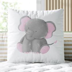 Almofada Quadrada Amiguinho Elefante 33cm