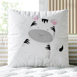 Almofada Quadrada Amiguinha Zebra 30cm