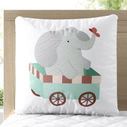 Almofada Quadrada Elefantinho Viajante