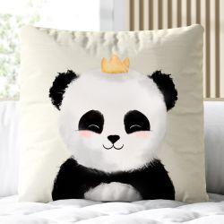 Almofada Quadrada Panda Príncipe 33cm
