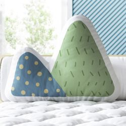 Almofada Montanhas Coloridas Verde e Azul 33cm
