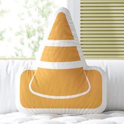 Almofada Cone Amarelo 30cm