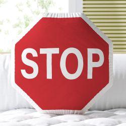 Almofada Placa Stop Vermelho 30cm