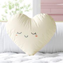 Almofada Coração Feliz Amarelo 33cm