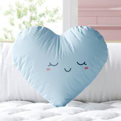 Almofada Coração Feliz Azul 33cm