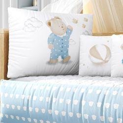 Kit Berço Ursinho de Pijama Azul