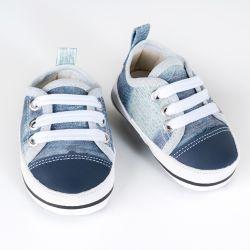 Tênis Bebê Passeio Azul Jeans