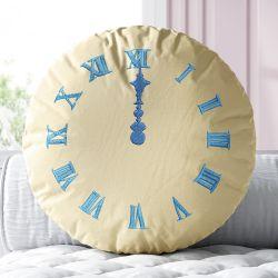 Almofada Redonda Meia-noite no Relógio Princesa Cinderela 38cm