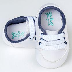 Tênis Bebê Classic Branco e Azul Marinho