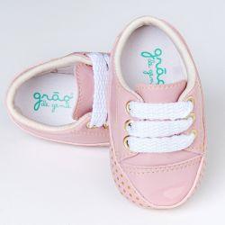Tênis Bebê Flat Poá Rosé