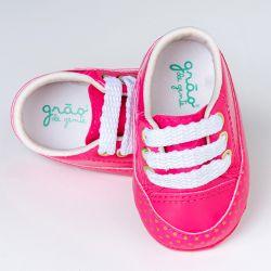 Tênis Bebê Flat Poá Pink