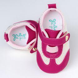 Tênis Bebê Charmosa Pink e Dourado