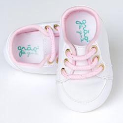 Tênis Bebê Classic Branco e Rosa