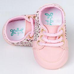 Tênis Bebê Classic Oncinha Rosa