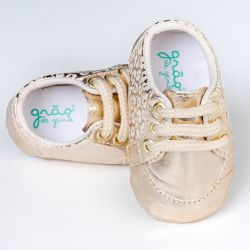 Tênis Bebê Classic Oncinha Dourado