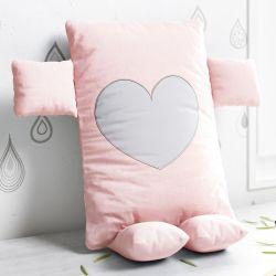 Almofada Naninha Amor Cor de Rosa 32cm