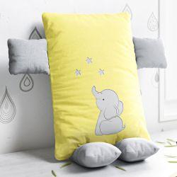 Almofada Naninha Elefantinho Amarelo 32cm