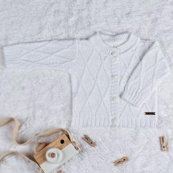 Casaquinho Tricot Branco Chantilly