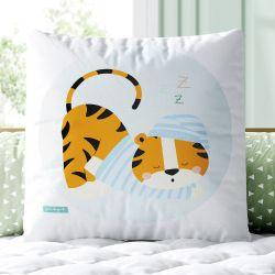 Almofada Quadrada Tigrinho Dorminhoco 33cm