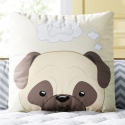 Almofada Quadrada Cachorrinho Pug