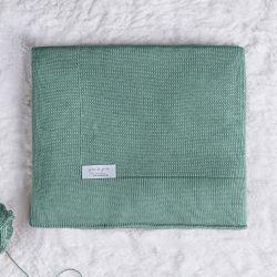 Manta Bebê Tricot Liso Verde Pistache 80cm
