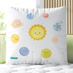Almofada Quadrada Sistema Solar 33cm