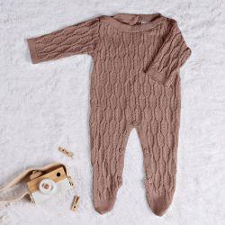 Macacão Tricot Colmeia Nude