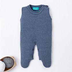 Macacão Tricot Azul Jeans