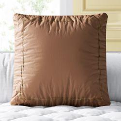 Almofada Quadrada Marrom Sintético 38cm