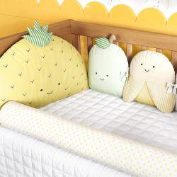 Kit Berço Frutinhas Amarelo