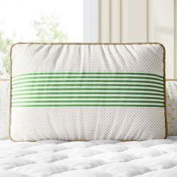 Almofada Retangular Poá e Listra Verde 43cm