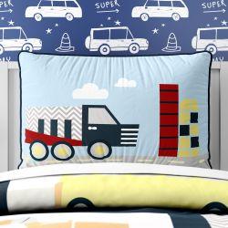Capa de Travesseiro Infantil Caminhão Chevron