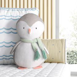 Bichinho de Pelúcia Pinguim com Cachecol 30cm