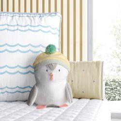 Bichinho de Pelúcia Bebê Pinguim com Gorrinho 15cm