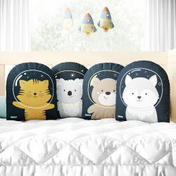 Almofadas Amiguinhos Astronautas 4 Peças