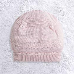 Touca para Bebê Tricot Clássico Rosa